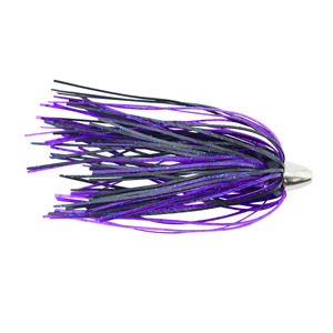 C&H, King Buster Lure, Black/Purple Skirt, 1/8 oz (3.5 g) Head, 2.5 in (6.35 cm), 3 pc