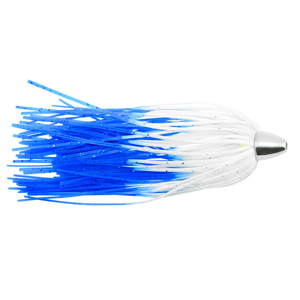 C&H, King Buster Lure, Blue/White Glow Skirt, 1/8 oz (3.5 g) Head, 2.5 in (6.35 cm), 3 pc
