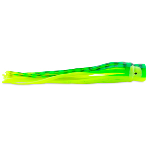 C&H, Lil Bubbler Lure, Green/Yellow Belly Skirt, Concave Head, 5.5 in (14 cm)