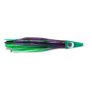 C&H, Tuna Tango Lure, Black/Purple/Green Skirt, 1.75 oz (49.6 g) Head, 5.75 in (14.6 cm)
