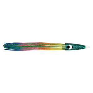 C&H, Wahoo Whacker, Rainbow/Chartreuse-Green Skirt, 6 oz (170 g) 11.5 in (29.2 cm)