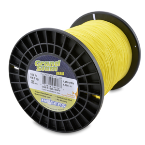 Grand Slam Braid, 150 lb (68.2 kg) test, .022 in (0.56 mm) dia, Fluorescent Yellow, 1200 yd (1097 m)