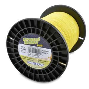 Grand Slam Braid, 200 lb (90.9 kg) test, .023 in (0.58 mm) dia, Fluorescent Yellow, 1200 yd (1097 m)