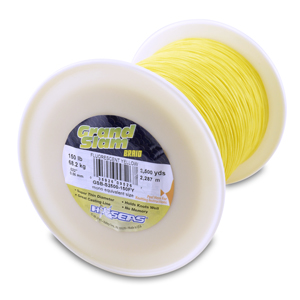 Grand Slam Braid, 150 lb (68.2 kg) test, .022 in (0.56 mm) dia, Fluorescent Yellow, 2500 yd (2286 m)