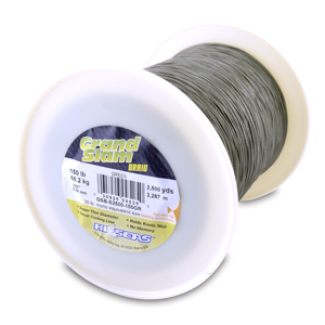 Grand Slam Braid, 150 lb (68.2 kg) test, .022 in (0.56 mm) dia, Green, 2500 yd (2286 m)