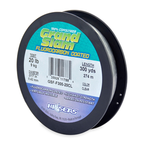 Grand Slam Fluorocarbon Coated, 20 lb (9.0 kg) test, .017 in (0.42 mm) dia, Clear, 300 yd (274 m)