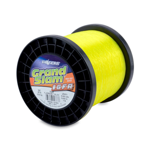 Grand Slam IGFA Mono Line, Class 10, 20 lb (10 kg) test, .016 in (0.41 mm) dia, Fluoro Yellow, 1lb, 3303 yd (3022m)