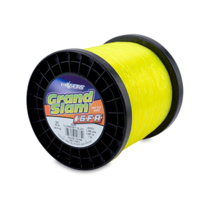 Grand Slam IGFA Mono Line, Class 24, 50 lb (24 kg) test, .027 in (0.69 mm) dia, Fluoro Yellow, 1lb, 1166 yd (1067 m)