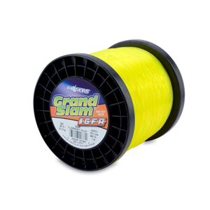 Grand Slam IGFA Mono Line, Class 37, 80 lb (37 kg) test, .034 in (0.87 mm) dia, Fluoro Yellow, 1lb, 751 yd (687 m)