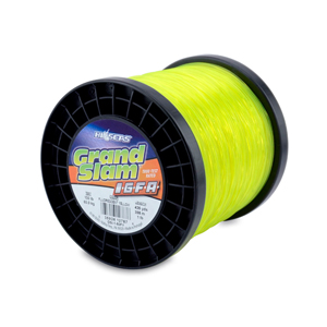 Grand Slam IGFA Mono Line, Class 60, 130 lb (60 kg) test, .045 in (1.13 mm) dia, Fluoro Yellow, 1lb, 435 yd (398 m)