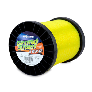 Grand Slam IGFA Mono Line, Class 15, 30 lb (15 kg) test, .020 in (0.52 mm) dia, Fluoro Yellow, 2lb, 4056 yd (3711 m)
