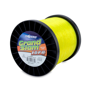 Grand Slam IGFA Mono Line, Class 24, 50 lb (24 kg) test, .027 in (0.69 mm) dia, Fluoro Yellow, 2lb, 2332 yd (2134 m)