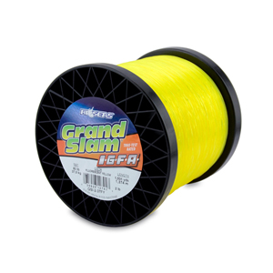 Grand Slam IGFA Mono Line, Class 37, 80 lb (37 kg) test, .034 in (0.87 mm) dia, Fluoro Yellow, 2lb, 1501 yd (1374 m)