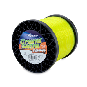 Grand Slam IGFA Mono Line, Class 60, 130 lb (60 kg) test, .045 in (1.13 mm) dia, Fluoro Yellow, 2lb, 869 yd (795 m)