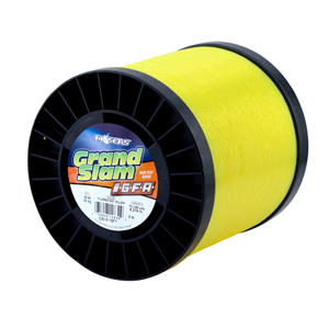 Grand Slam IGFA Mono Line, Class 15, 30 lb (15 kg) test, .020 in (0.52 mm) dia, Fluoro Yellow, 5lb, 10140 yd (9272 m)