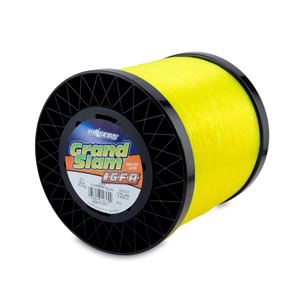 Grand Slam IGFA Mono Line, Class 37, 80 lb (37 kg) test, .034 in (0.87 mm) dia, Fluoro Yellow, 5lb, 3753 yd (3434 m)
