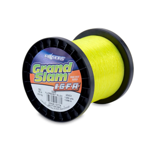 Grand Slam IGFA Mono Line, Class 8, 16 lb (8 kg) test, .015 in (0.37 mm) dia, Fluoro Yellow, 1200 yd (1098 m)