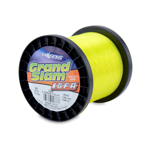 Grand Slam IGFA Mono Line, Class 10, 20 lb (10 kg) test, .016 in (0.41 mm) dia, Fluoro Yellow, 1200 yd (1098 m)