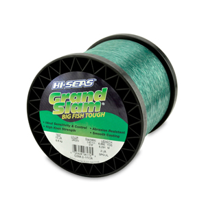 Grand Slam Mono Line, 15 lb (6.8 kg) test, .016 in (0.40 mm) dia, Green, 6880 yd (6291 m)
