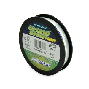 Grand Slam Mono Line, 12 lb (5.4 kg) test, .014 in (0.35 mm) dia, Clear, 300 yd (274 m)