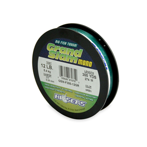Grand Slam Mono Line, 12 lb (5.4 kg) test, .014 in (0.35 mm) dia, Green, 300 yd (274 m)