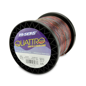 Quattro Mono Line, 100 lb (45.3 kg) test, .039 in (1.00 mm) dia, 4-Color Camo, 960 yd (878 m)