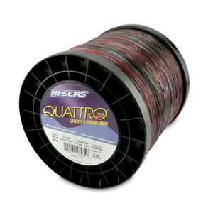 Quattro Mono Line, 150 lb (68.0 kg) test, .051 in (1.30 mm) dia, 4-Color Camo, 1525 yd (1394 m)