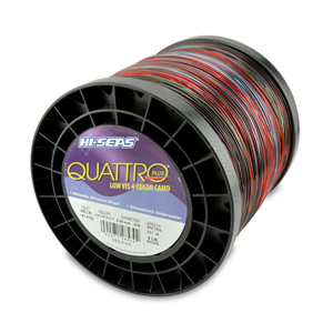 Quattro Mono Line, 400 lb (181.4 kg) test, .079 in (2.00 mm) dia, 4-Color Camo, 675 yd (617 m)