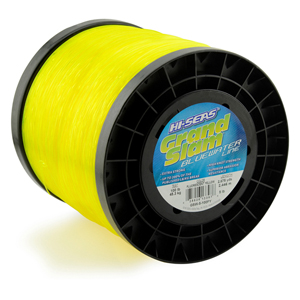 Grand Slam Bluewater Line, 100 lb (45.3 kg) test, .039 in (1.00 mm) dia, Fluorescent Yellow, 2675 yd (2446 m)