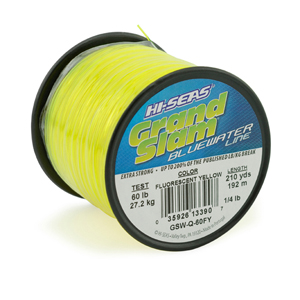 Grand Slam Bluewater Line, 60 lb (27.2 kg) test, .031 in (0.80 mm) dia, Fluorescent Yellow, 210 yd (192 m)