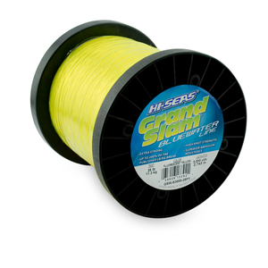 Grand Slam Bluewater Line, 25 lb (11.3 kg) test, .020 in (0.50 mm) dia, Fluorescent Yellow, 3000 yd (2743 m)