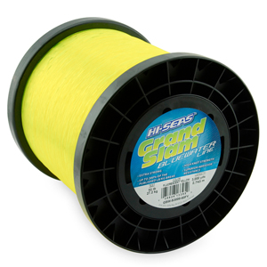 Grand Slam Bluewater Line, 60 lb (27.2 kg) test, .031 in (0.80 mm) dia, Fluorescent Yellow, 3000 yd (2743 m)