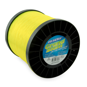 Grand Slam Bluewater Line, 80 lb (36.2 kg) test, .035 in (0.90 mm) dia, Fluorescent Yellow, 3000 yd (2743 m)