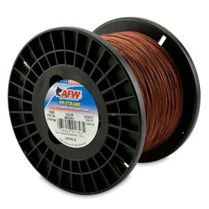 49 Strand, 7x7 Stainless Steel Shark Leader Cable, 275 lb (125 kg) test, .045 in (1.14 mm) dia, Camo, 1000 ft (305 m)