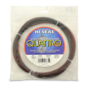 Quattro Mono Leader, 150 lb (68.0 kg) test, .051 in (1.30 mm) dia, 4-Color Camo, 100 yd (91 m)